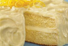 Sunny Lemon Cake     Bright and tangy, this cake will appeal to adults and children. Once frosted, it will keep in the refrigerator, loosely wrapped in foil or waxed paper, for up to three days.        Read more: http://www.oprah.com/food/Potluck-Recipe-Ideas-What-to-Bring-to-a-Potluck-Dinner/13#ixzz1yZ0pZXc3