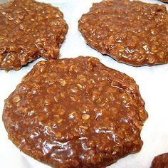 Chocolate Peanut Butter Oatmeal no-bake cookies