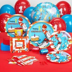 Whether it's your baby's first birthday or you just love Dr. Seuss, March is the month to host a Dr. Seuss Party.    March 2nd is Dr. Seuss' birthday...