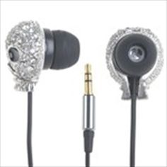 Stylish Skull 3.5mm In-ear Earphones Stereo Earbuds Headphones with Pattern Decor for iPhone iPod MP3 MP4 - Silver  $12.81