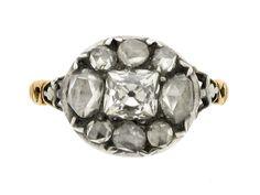 Georgian diamond ring, English, circa 1770.