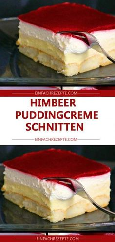 Kuchen ohne Backen – Himbeer-Puddingcreme Schnitten 😍 😍 😍 Cake without baking – raspberry pudding cream slices 😍 😍 😍 Pound Cake Recipes, Cupcake Recipes, Dessert Recipes, Raspberry Recipes, Ice Cream Recipes, Easy Smoothie Recipes, Cinnamon Cream Cheeses, Pumpkin Spice Cupcakes, Fall Desserts