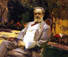 'Raimundo de Madrazo in his Paris garden'painted in 1906 by popular Joaquin Sorolla read a brief biography of the painter here. Raimundo de Madrazo was a fellow painter who not. Spanish Painters, Spanish Artists, L'art Du Portrait, Portraits, Painting People, Figure Painting, Guy Drawing, Painting & Drawing, Art Espagnole