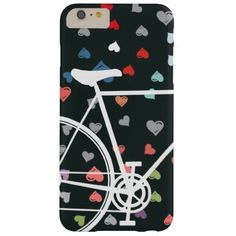 Black Love hearts Abstract Bicycle Case-Mate Barely There iPhone 6 Plus Case Iphone 8 Plus, Iphone Case Covers, Gifts Love, Red Gifts, Color Style, Red Style, White Style, Black Love Heart, White Iphone