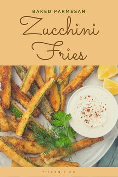 Baked Zucchini Fries can be used as a light lunch or dinner. It is wonderful with some grilled chicken, sauteed onions, and a great salad. You could also use it as a side dish with pasta. #zucchini #zucchinirecipes #zucchinifries #zucchinifritters #zucchini🥒 Dinner Recipes Easy Quick, Vegetarian Recipes Easy, Quick Easy Meals, Healthy Recipes, Vegan Appetizers, Appetizer Recipes, Snack Recipes, Cooking Recipes, Cooking Ideas