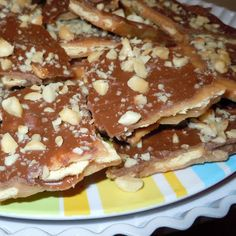 I have been making this for years and my friends have nicknamed crack....cuz it's so addicting!    Sweet and Saltines (Trisha Yearwood) Recipe .  We can't get enough of this.