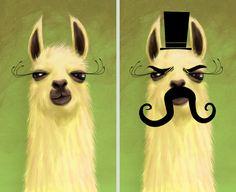 llama and evil llama / chunkysmurf