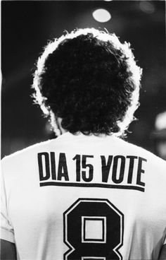 Socrates, one of Brazil's great players, convinced team mates at Corinthians to use their namespaces to urge fans to vote. This followed acts of defiance against a military dictatorship.