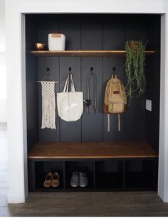 Earlier than and After 215 and Intelligent DIYs Make This Entryway A lot Extra S. Earlier than and After 215 and Intelligent DIYs Make This Entryway A lot Extra Sensible Entry Closet, Diy Home Decor, Room Decor, Home Design Decor, Interior Design, Entry Way Design, Entryway Decor, Entryway Bench, Entryway Hooks