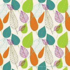 Illustration leaves fall colors surface pattern path and pattern