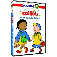 """NEW DVD: Caillou Goes Back To School DVD & Bonus Book!  Now Available at Walmart, Target, Toys """"R"""" Us and ShopPBS.org!"""