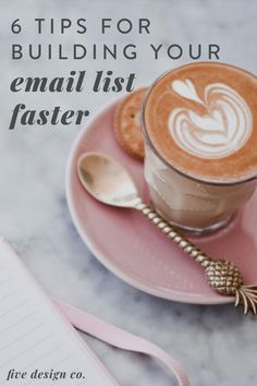 Tips for Building Your Email List Faster | Digital Marketing Strategy | Focusing on your email marketing strategy so you can grow your target audience and online business? Click to learn how to grow your email list by using opt-ins, optimising your website SEO, using Pinterest marketing & working on providing valuable content that serves your audience. | Target Audience | Entrepreneur Marketing Tips | Five Design Co. #emaillist #emailmarketing #entrepreneurtips #marketingstrategy… Online Marketing Strategies, Content Marketing Strategy, Custom Web Design, Your Email, Creative Business, Business Tips, Target Audience, Email List, Business Branding