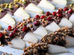Chocolate Dipped Pear | Mom, Can I Have That? | Recipe By Picture ☻ ☻  ☺