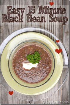 Black bean soup #quick #easy #delicious