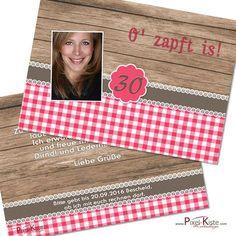 """originelle Oktoberfest-Einladung """"O'zapft is"""" drucken lassen  #Bavaria #Oktoberfest #Party #Geburtstag #Einladungskarten"""