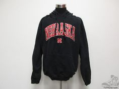 J America Nebraska Corn Huskers Hoody Sweatshirt sz 2XL XXL SEWN University NCAA #JAmerica #NebraskaCornhuskers