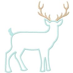 Deer Silhouette Applique - 4x4, 5x7 & 6x10