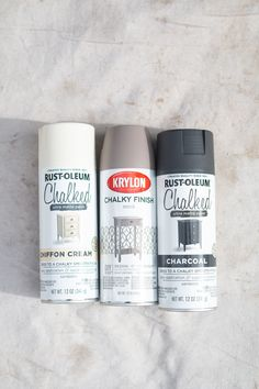 I picked up a few cans of chalk spray paint to transform some outdated decor I had around the house. The end result is suprisingly awesome! Rustoleum Chalked Spray Paint, Spray Paint Vases, Chalk Spray Paint, Best Spray Paint, Spray Paint Furniture, Metallic Spray Paint, White Spray Paint, Painted Vases, Painted Furniture