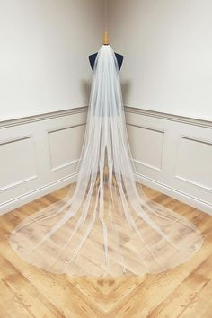 Stunning collection of Bridal Veils made in Ireland, different lengths and trims available.High quality Veiling and finish. Online Sales see website. Cater for different lengths and requirements. All designed and made in Dublin . This one is plain thread edge veil, angel crystals can be added. Wedding Veils