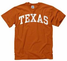 Texas Longhorns Dark Orange Arch T-Shirt by New Agenda. $12.99. Lightweight rib knit t-shirt. Officially licensed. For a roomier fit, please order one size up. 100% Cotton. Basic crew neck. Whether you are cheering your team on at the stadium or just strolling around campus make sure you are oozing with team spirit. Show your team pride than with this Texas Longhorns Dark Orange Arch T-Shirt! This comfy shirt features screen print graphics of team logo and wordmar...