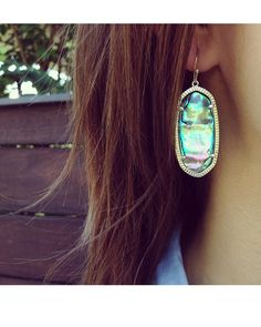 Elle Earrings in Abalone Shell - Kendra Scott Jewelry