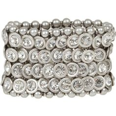 Heirloom Finds Dazzling Crystal and Matte Silver Tone Wide Stretch Cuff Bracelet Heirloom Finds, http://www.amazon.com/dp/B008C9TAY8/ref=cm_sw_r_pi_dp_7-URqb1VQHQR8
