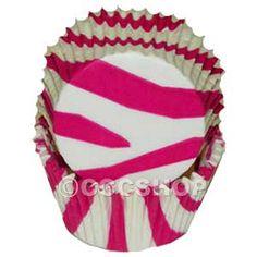 Items similar to 50 Standard Hot Pink & White Zebra Stripe Print Cupcake Baking Cups Supplies on Etsy Animal Print Cupcakes, Zebra Print Party, Zebra Cupcakes, Kid Cupcakes, White Cupcakes, Baby Shower Cupcakes, Cupcake Cases, Cupcake Liners, Cupcake Wrappers