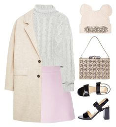 """""""Breakfast at Tiffany's"""" by gangsterwizard ❤ liked on Polyvore featuring Marni, Markus Lupfer, Bamford, Nina Ricci, American Apparel, MANGO, monochrome and winter2015"""