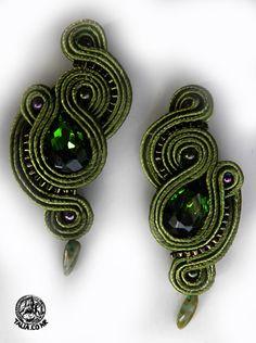 Earrings in Green