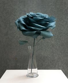 Beautiful hand crafted roses out of Crepe paper. Paper roses / crepe paper flowers / paper flowers / wedding flowers /  paper flower. $35.00, via Etsy.