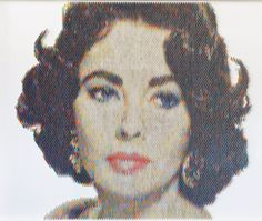 New Portraits Made From Hundreds of Punched Paint Chips - Liz Claiborne Paper Art, Paper Crafts, Paint Swatches, Paint Chips, Art Fair, Paper Cutting, Artsy, Liz Claiborne, Drawings
