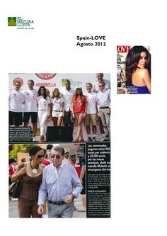 Featured in the Spanish magazine LOVE, August Edition