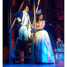 From tech last night at @HamiltonMusical.  @Lin_Manuel & #renee looking sharp in @paulgtazewell threads. #WaitForIt