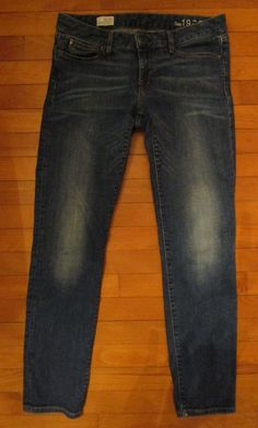 Womens GAP 1969 Forever Skinny Jeans Sz 30 / 10 Dark Wash Mid Rise  #GAP #SlimSkinnyStretch