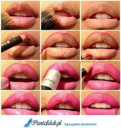 Dokładnie pomalowane usta- rób tak!
