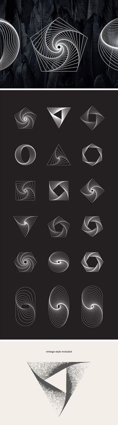 18 #free Geometric Line Art Vectors Get a set of 18 #geometric line art #objects in vector format. Give your design project a perfectly calculated geometrical touch with these beautiful illustrations in 2 styles: solid and grungy. The freebie comes in easily adjustable vector formats (Ai + EPS) and high-resolution JPG and transparent PNG formats.: