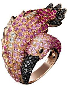 Pink Flamingo Boucheron ring