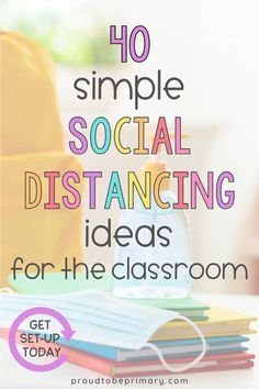 How do you survive teaching with social distancing in K-3? Try these simple classroom socially distant ideas and activities to help you set-up and manage a primary classroom. Find organization ideas for centers, supplies, seating, morning meeting, social-emotional learning, books, and classroom jobs, as well as using online platforms and digital activities and resources. Try these hacks to get your kindergarten, first, second, or third grade classroom kids ready for a successful school year! Teaching First Grade, First Grade Classroom, Primary Classroom, Preschool Classroom, Kindergarten Classroom, Classroom Activities, Writing Activities, Classroom Jobs, Classroom Organization