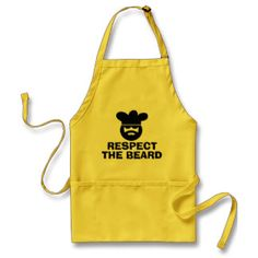 Funny BBQ apron for men | Respect the beard  http://weloveproducts.co.uk/?cat=13