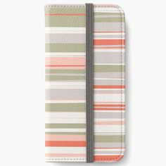 """""""Mosaic Rectangles in Coral, Sage, Blush, Cream and Gray"""" iPhone Wallet by MenegaSabidussi 