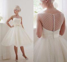 Tea Length Retro Wedding Dresses