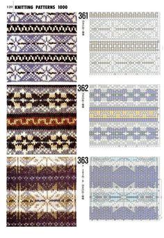 Книга 1000 узоров — Yandex.Disk Fair Isle Knitting Patterns, Knitting Charts, Knitting Stitches, Knitting Designs, Knit Patterns, Knitting Projects, Stitch Patterns, Motif Fair Isle, Fair Isle Chart