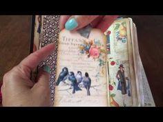 Roaring 20's Junk Journal for a swap on Junk Journal Junkies - YouTube