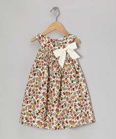 Take a look at this White & Burgundy Floral Bow Yoke Dress - Infant & Toddler by Petit Confection on #zulily today!  http://www.zulily.com/invite/Zulily20Store