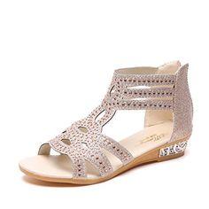 c74767abe40 LUCKYCAT Prime Day Amazon Sandales d été Femme Chaussures de Été Sandales à  Talons Chaussures