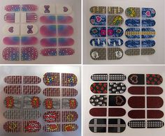 Close up of Little Mix nail wraps, designed by me, available at...