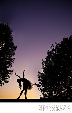 Creative dance photography, senior photography, ballerina, silhouette - Memories by Tanya Photography