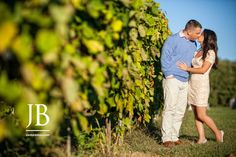 Valenzano Winery engagement session. Photos by Jordan Brian Photography.