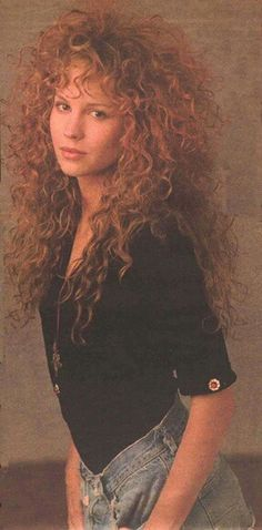 that hair- Rosie Vela - 80s Curly Hair, 80s Big Hair, Curly Hair Styles, Permed Hairstyles, Cool Hairstyles, 1980s Hairstyles, Hairdos, Vintage Hairstyles, 80s Haircuts