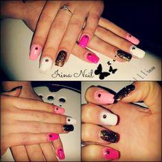 Pink nail art by Irina Nail
